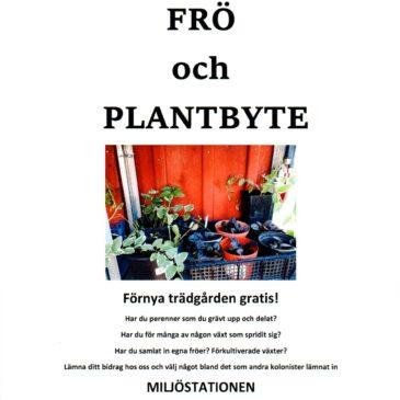 Frö och plantbyte, Lördag 22/5 kl 9-11