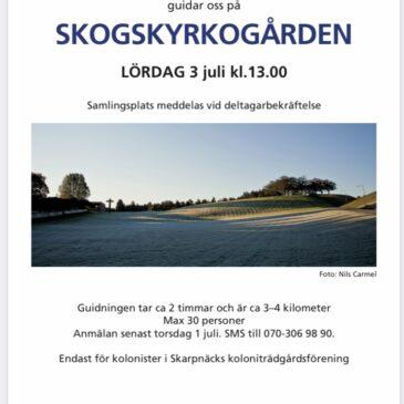 Guidning Skogskyrkogården 3 juli