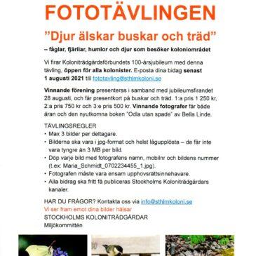 Fototävling – Stockholms Koloniträdgårdar